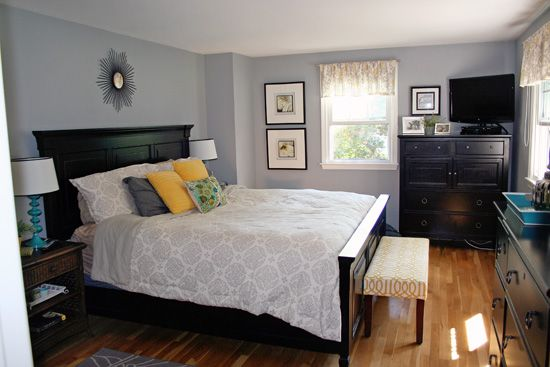 At Home Gray Master Bedroom Yellow Teal Gray Home Sweet Home Pinterest Master Bedrooms
