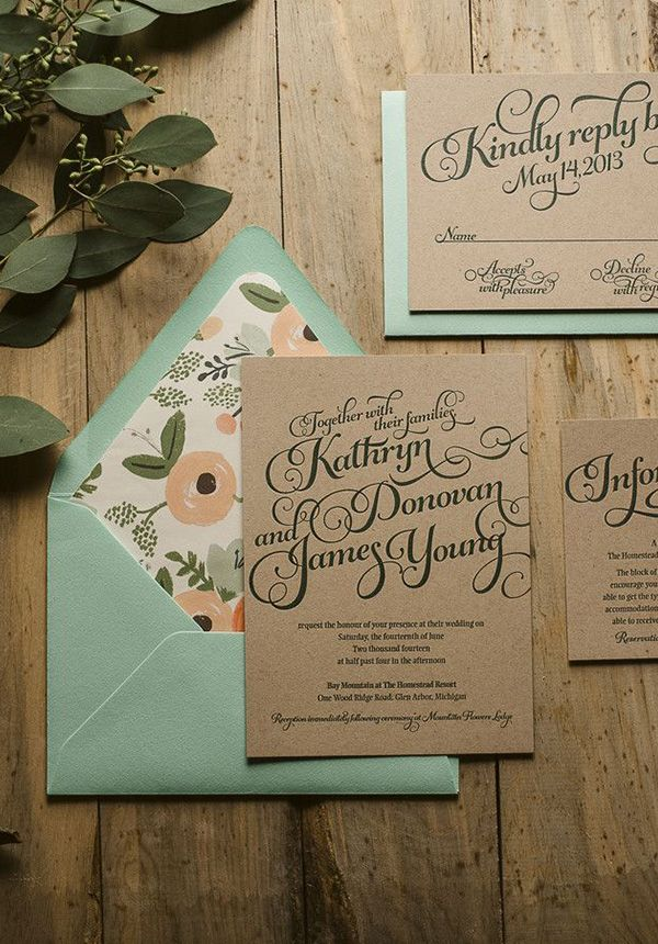 Rustic Wedding Invitations 20 Beautiful Wedding Invitation Ideas