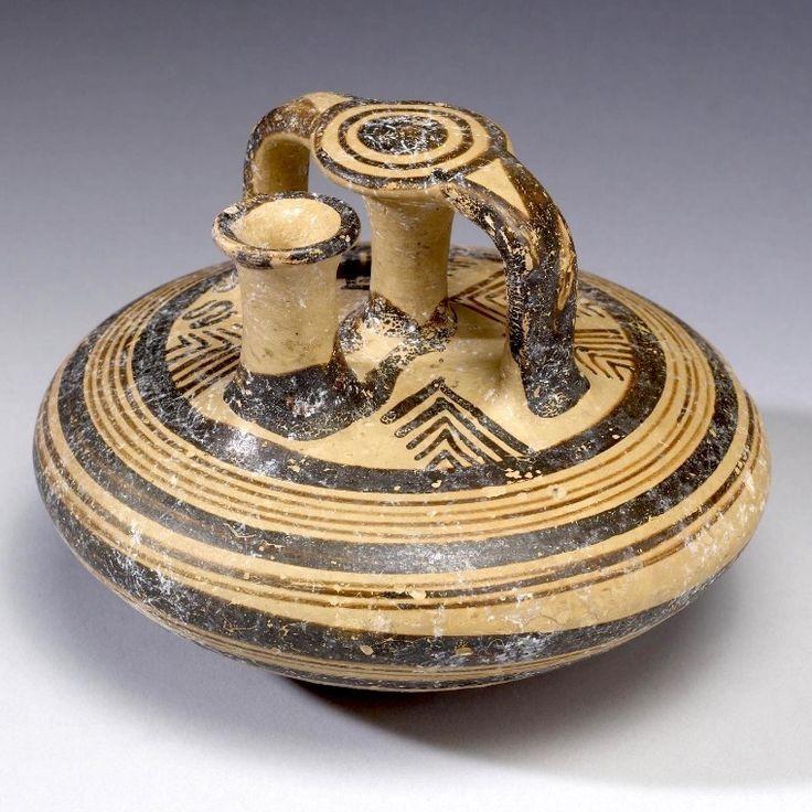 Anfora a staffa, ca 1200  a.C., ceramica dipinta,  da Micene. Baltimora, Walters Art Museum