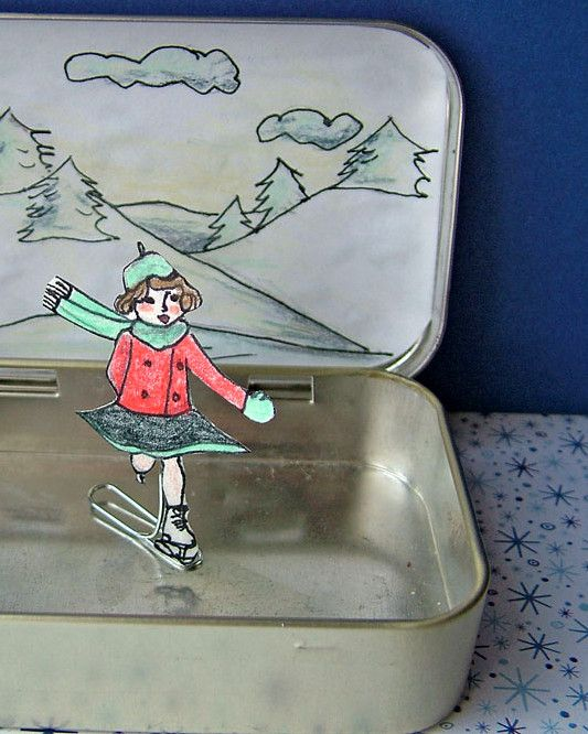 cute idea for altoids can.  magnet under neath makes it move! Nx