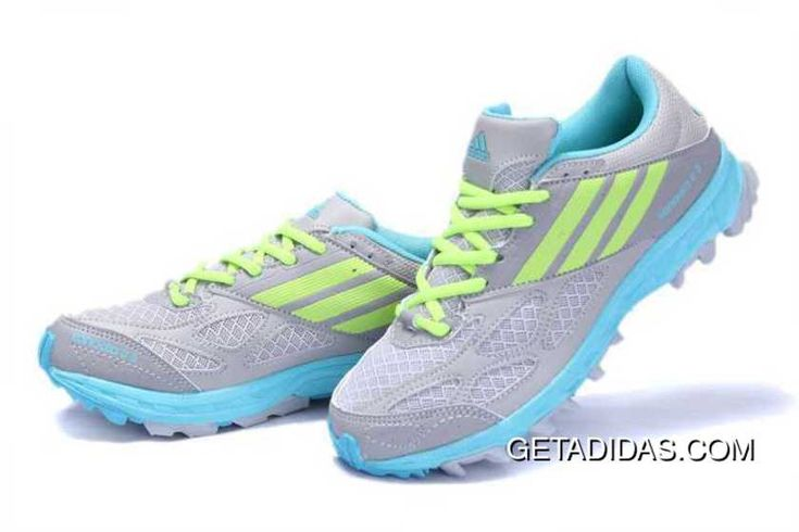 In stock Adidas Kanadia Diamond TR Women Running Shoes in Grey Yellowgreen Abrasion  Resistant Amazing Cool