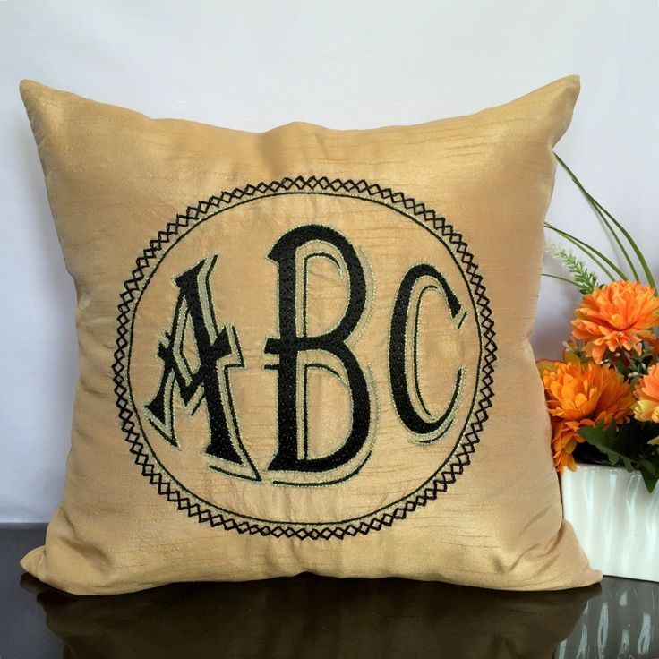 Personalized Pillow Cover  Initials Pillow Cover  Monogram Pillow 3 Initials Pillows Customized Monogram Pillows Gift Pillows by TheWhitePetalsDecor on Etsy