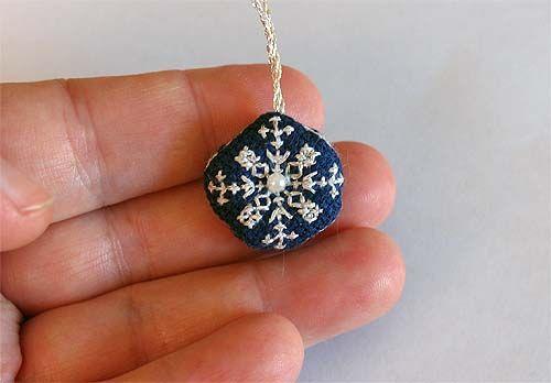 tiny biscornu ornament