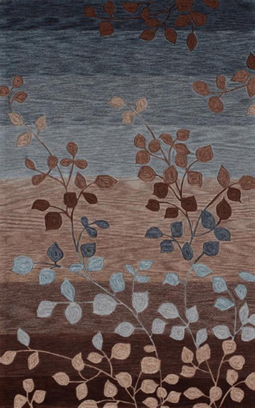 Merveilleux Blue, Light Blue, Brown, Maroon, Beige, Tan, Grey, Gray, Pink, Purple,  Modern Oriental Rug, Rugs