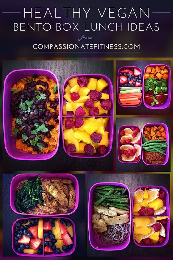 Healthy Lunch Ideas: Healthy Vegan Bento Box