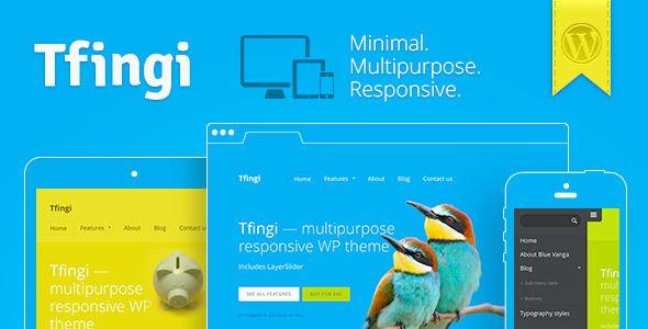 Tfingi - Responsive Multipurpose WordPress Theme - prowordpress.org