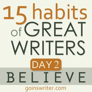 "@JeffGoins #15habits :: ""If you're going to succeed, you're going to have to believe you're a writer — in the deepest core of yourself. That part of you that you're scared to share the world. You're going to have to trust in what you can't yet see."": Corner, 15 Habits, Book, Writing, Writers, God Sized, Sized Dream, 15Habits"