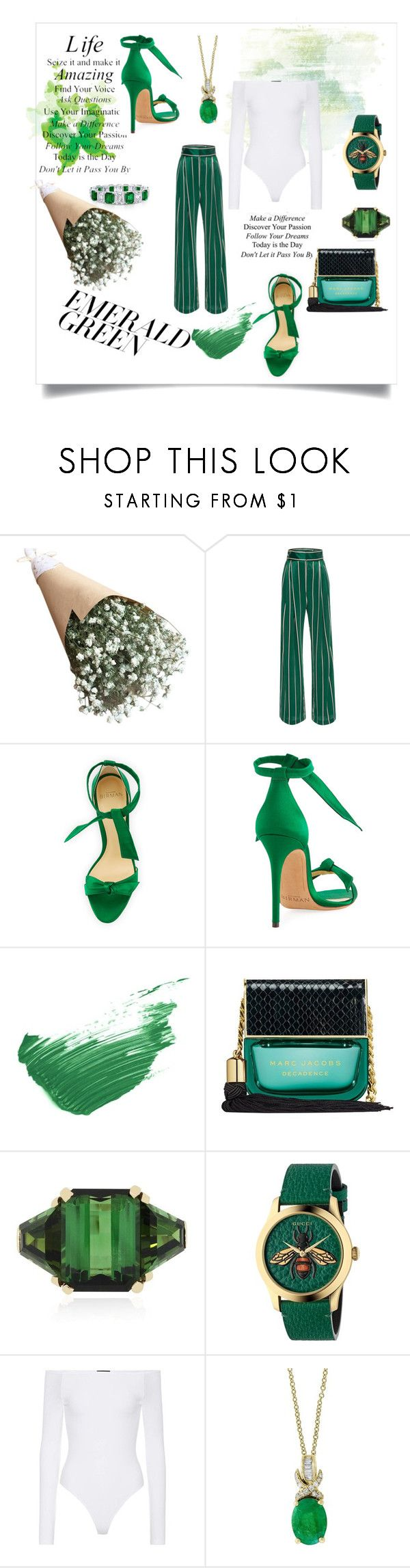 """Untitled #107"" by annakorf-i ❤ liked on Polyvore featuring WALL, Alexandre Birman, By Terry, Marc Jacobs, Gucci, ATM by Anthony Thomas Melillo and Effy Jewelry"