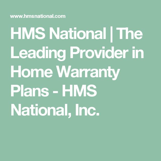 HMS National | The Leading Provider in Home Warranty Plans - HMS National, Inc.
