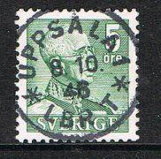 Sweden 5 öre Gustac V grey/green, postmarked Uppsala 1. Facit 271C