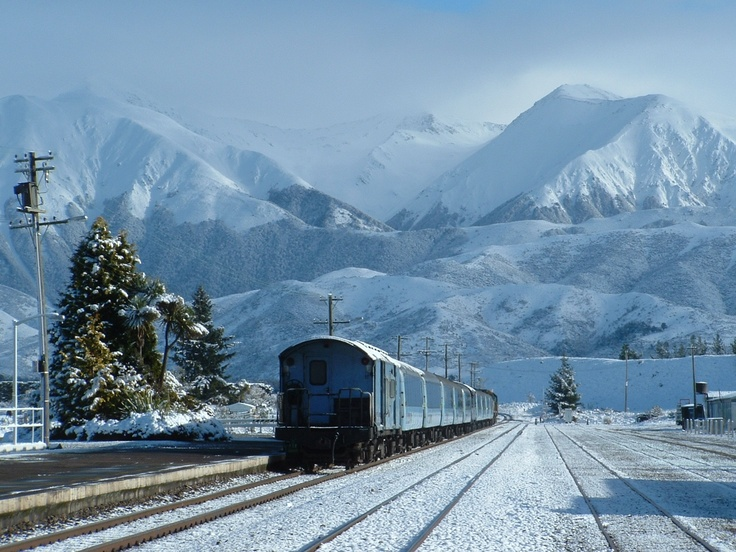 Arthur's Pass rail link between Christchurch and Greymouth on the West Coast. Fantastic trip especially in winter. Very picturesque.