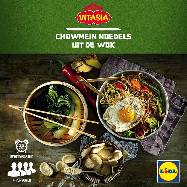 Deze chowmein noedels uit de wok zijn gemakkelijk zelf te bereiden! Meer Vitasia recepten ontdekken? Kijk op www.lidl.nl #Vitasia #Lidl