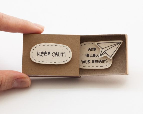 Niedliche Fun Ermutigung Card Matchbox / Geschenkbox von 3XUdesign