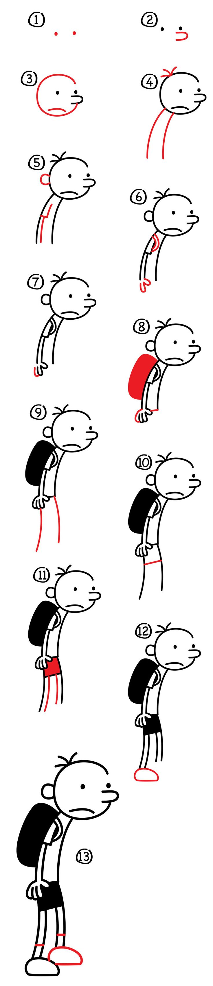 Learn how to draw Greg from Diary Of A Wimpy Kid! He's super easy and fun to draw, all you need is a marker and paper. Then follow along...