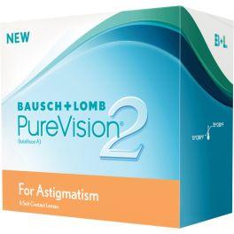 Soczewki kontaktowe PureVision 2 HD for astigmatism odznaczają się wysokim stopniem nawilżenia oraz bardzo dobrą transmisyjnością tlenu. ze względu na swoje właściwości są rekomendowane osobom z astygmatyzmem. Główne zalety soczewek PureVision 2 HD for astigmatism to: Doskonała ostrość widzenia przez cały czas noszenia soczewki Idealna stabilność obrazu Nieporównywalny komfort noszenia