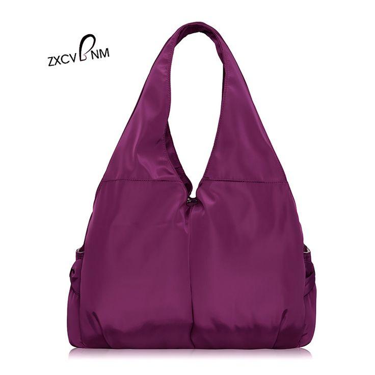 ZXCVBNM Women Handbag Casual Large Shoulder Bag Nylon Tote Famous Brand Purple Handbags Mummy Diaper Bags blosa feminina WH191