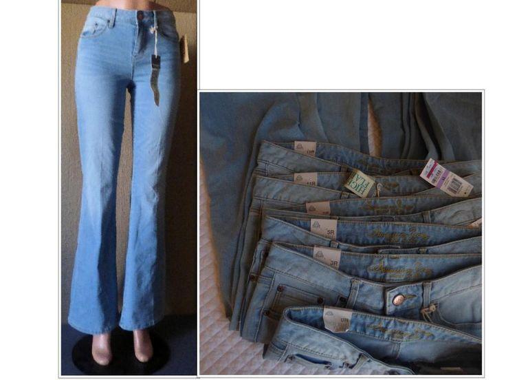 $69.50 American Rag Junior'S Light Deana Wash Flared Jeans, Inseam 32