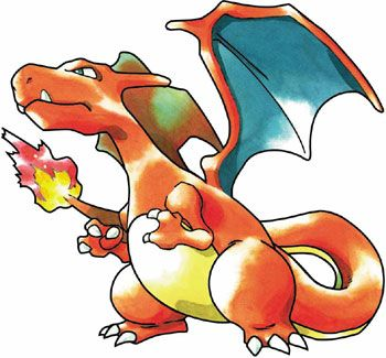 "Charizard, Pokemon #006, from the ""Pokemon Red / Blue"" games for the Game Boy / Color, GameFreak, 1996"