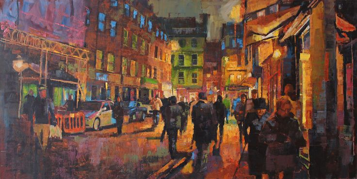 Comptons, Romily Street, London 48ins x 24ins oil on canvas. by Jamel Akib www.jamelakib.com