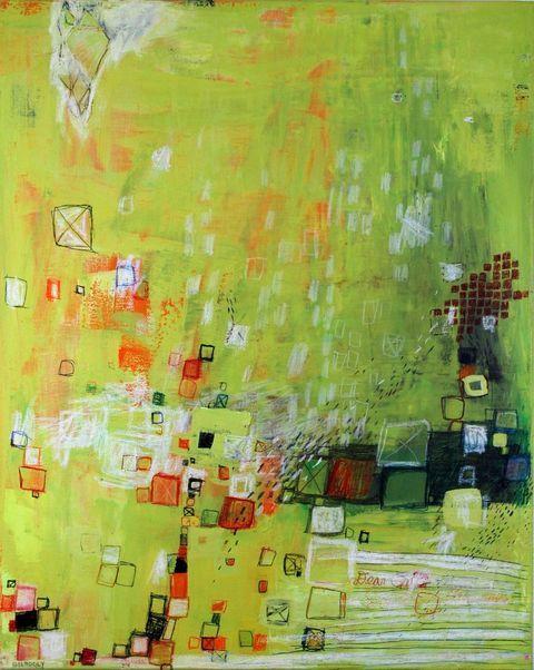 """Warm Afternoon, (c) 2013 Barbara Gilhooly, 36"""" x 24"""", acrylic, mixed media on canvas, $1450."""