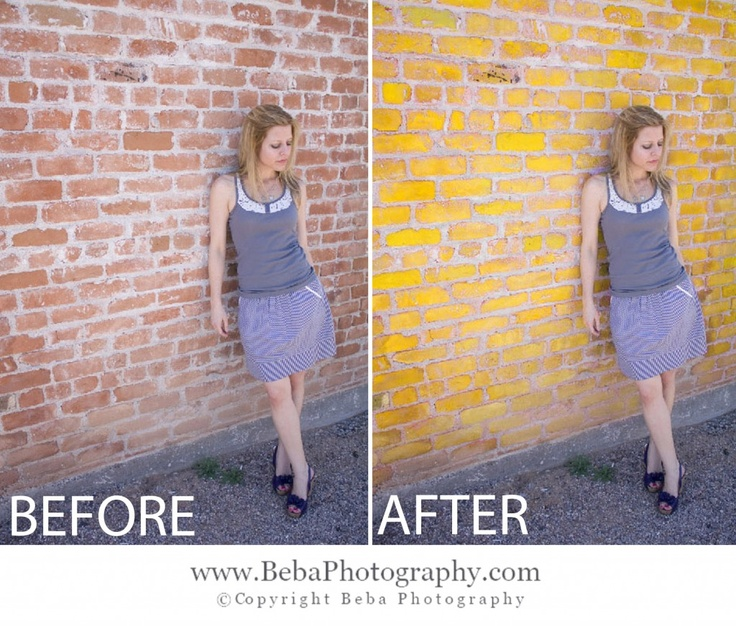 How to change wall color tutorial! --Beba Photography