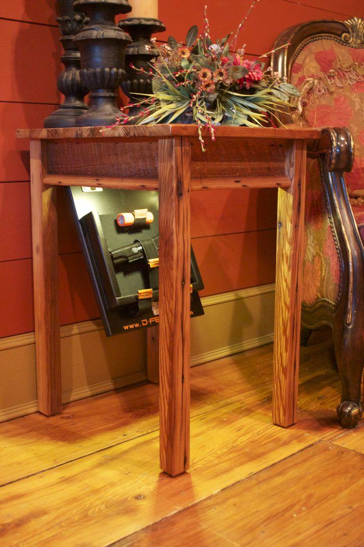 Best 25 hidden gun ideas on pinterest gun storage for Hidden storage side table