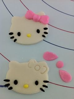 Joys of a Mom: How to make Hello Kitty Fondant Toppers