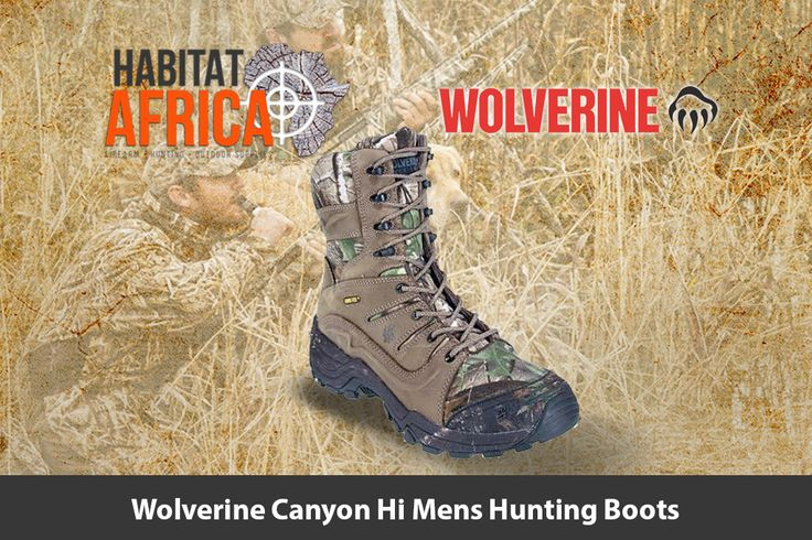 The Wolverine Canyon Hi mens hunting boots feature a waterproof…