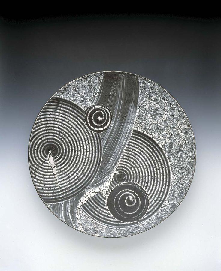 Robert Sperry - stoneware, white slip over black glaze