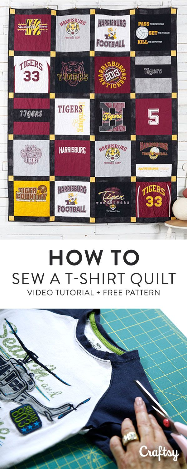 Transform your favorite t-shirts into a cozy quilt! In this free video tutorial Angela Walters guides you through t-shirt quilting step-by-step. Watch the video and get her exclusive free pattern at Craftsy!