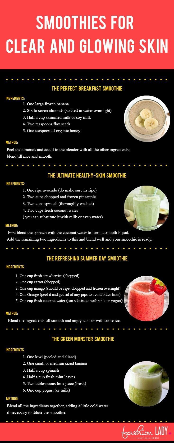 Smoothies for Clear and Glowing Skin http://beautifulclearskin.net/category/clear-skin-tips/