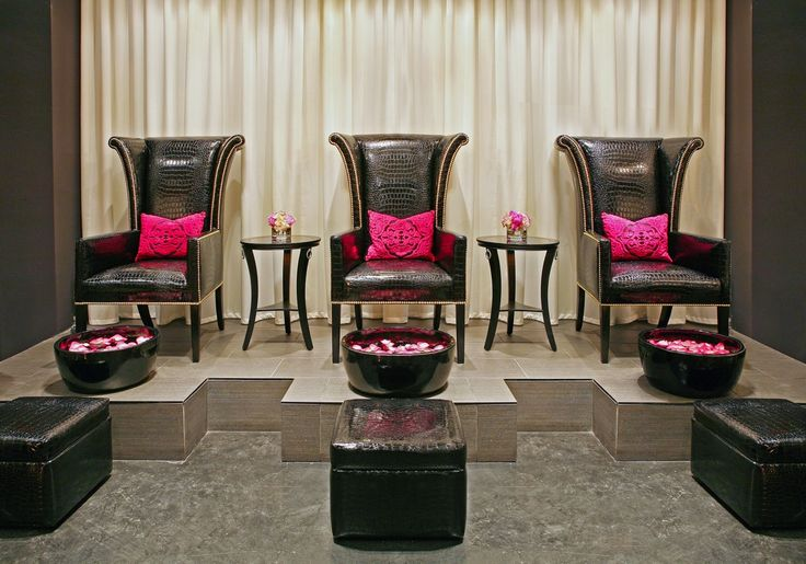 Luxury Spa Pedicure Area Polished Pedicure Lounge When