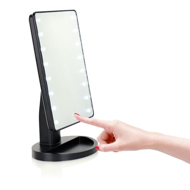 LED Touch Screen Professional Makeup Mirror 16 LED Lights
