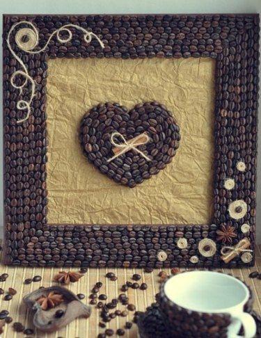 Картины из кофейных зерен