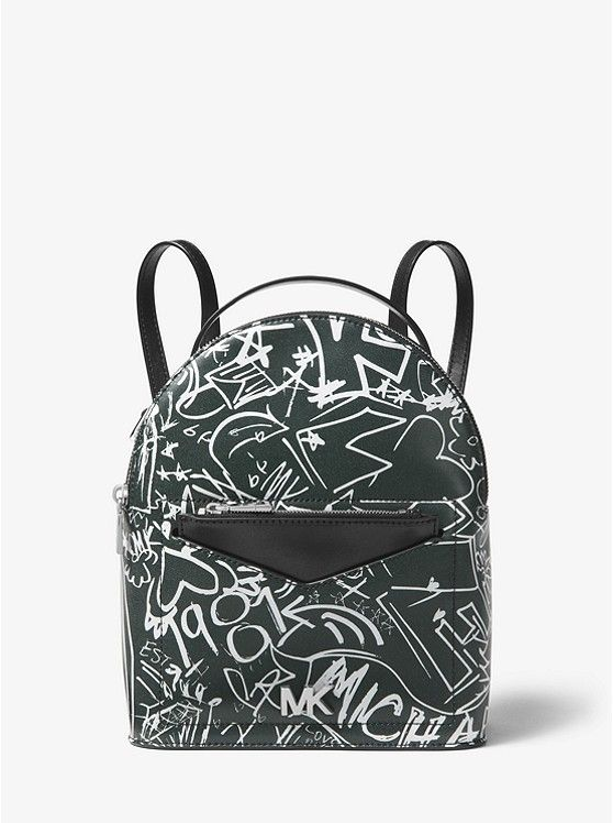 MICHAEL MICHAEL KORS Jessa Small Graffiti Leather