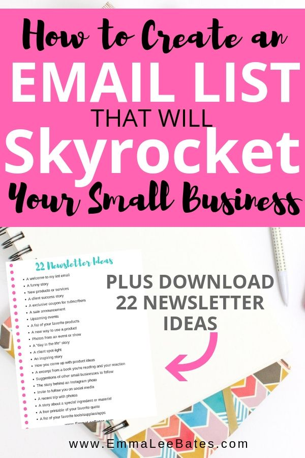 how to create an email list that will skyrocket your small business