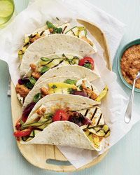 Tofu-and-Vegetable Tacos with Eggplant-Ancho Spread- Sweet!Fun Recipe, Mr. Tacos, Eggplantancho Spreads, Tofu Vegetables, Tofuandveget Tacos, Eggplants Ancho Spreads, Delicious Eating, Eator Drinks, Tofu And Vegetables Tacos