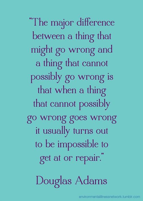 This Douglas Adams #quotation is from a book in the Hitchhiker's Guide to the Galaxy series.