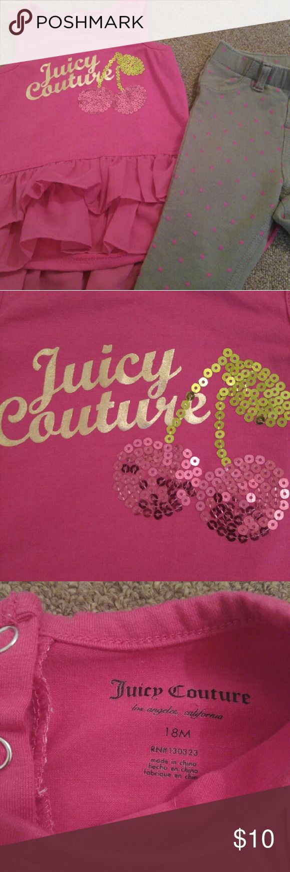 2PCS JUICY COUTURE/CIRCO 18m Very cute Juicy Couture Matching Sets