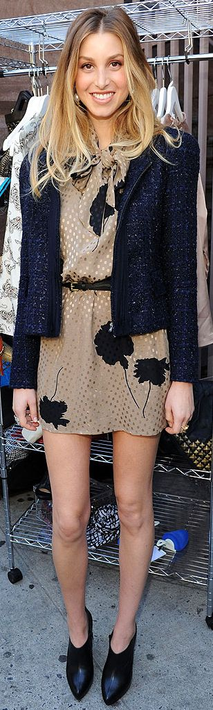Whitney Port - love the dress with booties