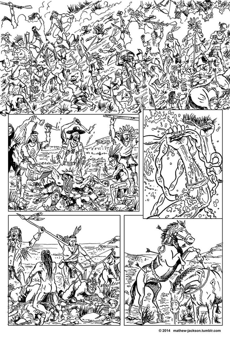 Comic Book Art Created From One Of My Favourite Chapters In Cormac  Mccarthy's Book Blood Meridian Whereanche Warriors Massacre An Ill  Equiped
