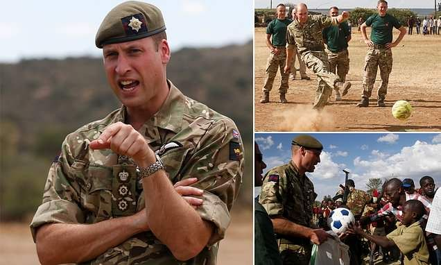 Prince William rounds visits the Irish Guards in Kenya... 1