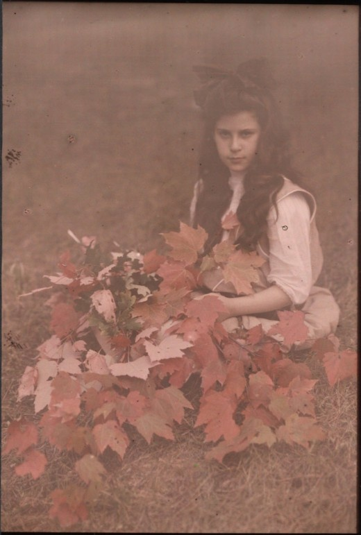 Katherine Stieglitz, daughter of the photographer, Albert Stieglitz  ca.1910 Autochrome
