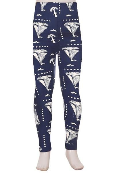 Childrens SAIL BOATS NAUTICAL Leggings, Sizes S/L – MomMe and More