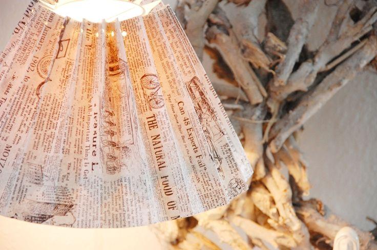House No. 43: Lampenschirm aus Tapete- Wallpaper Lamp Shade
