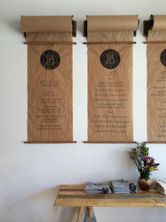 Brown paper menu system