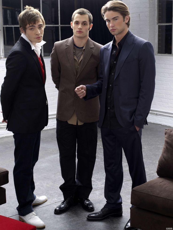 Chuck Bass, Dan Humphrey & Nate Archibald Gossip girl ...