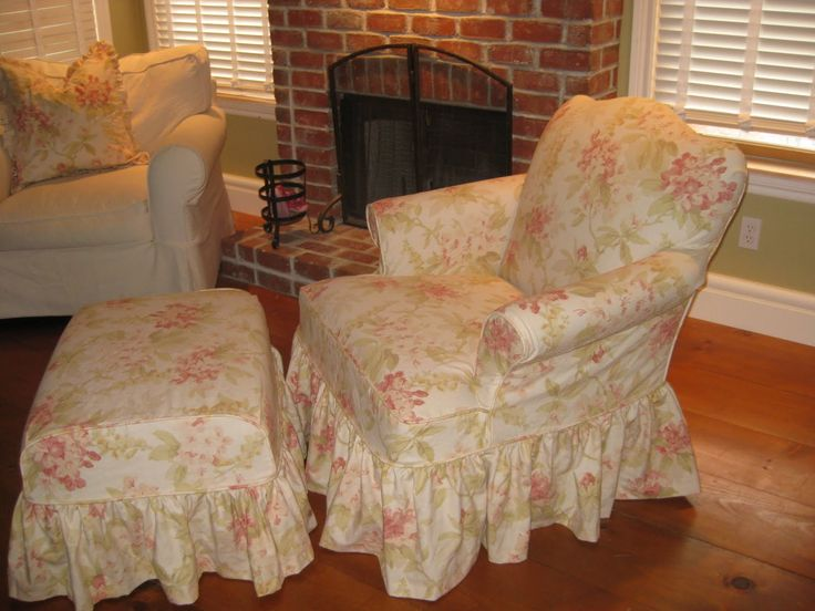 There are many stores with the model of the shabby chic slipcover for the wingback chairs. Description from abouttableschairs.com. I searched for this on bing.com/images
