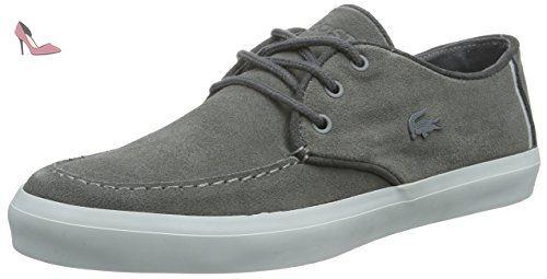 Lacoste Sevrin 316 1, Baskets Basses Homme, Gris (Dk Gry), 43 EU - Chaussures lacoste (*Partner-Link)
