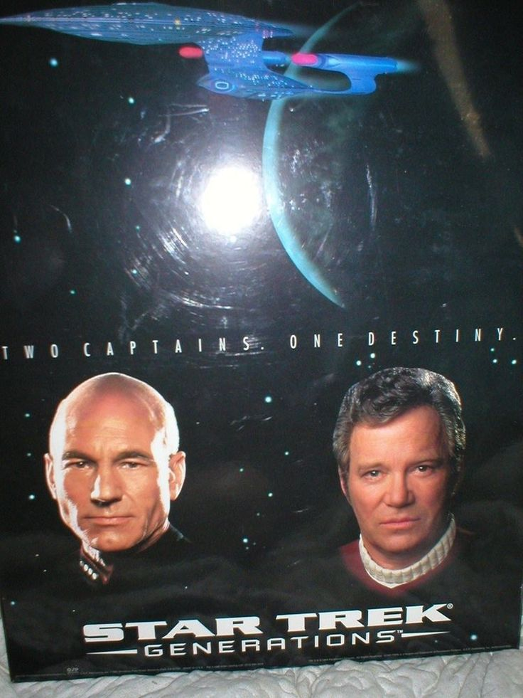 Star Trek Generations wall large wall plaque Two Captains One Destiny | Collectibles, Science Fiction & Horror, Star Trek | eBay!